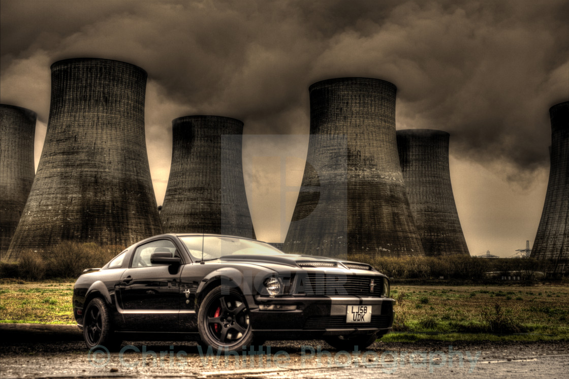 """Mustang Power Station"" stock image"