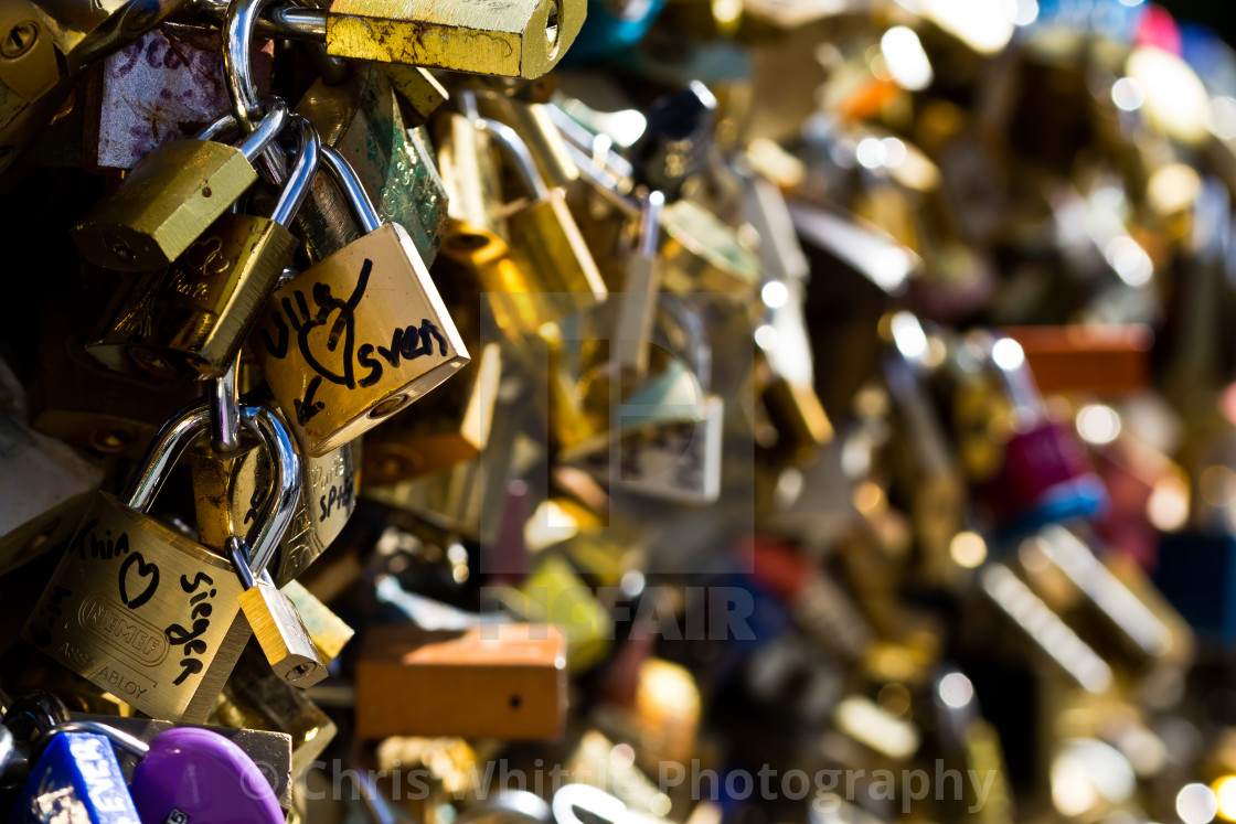 """Lock Bridge"" stock image"