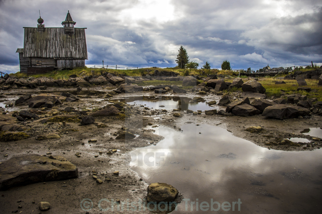 """Karelian church"" stock image"