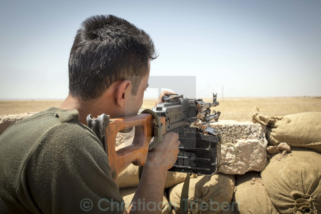 """Frontline with Islamic State"" stock image"