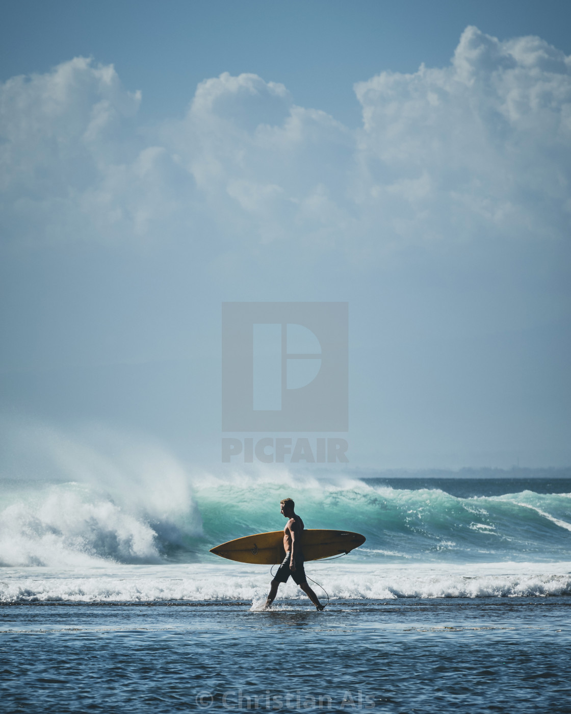 """BALANGAN SURF WALK"" stock image"