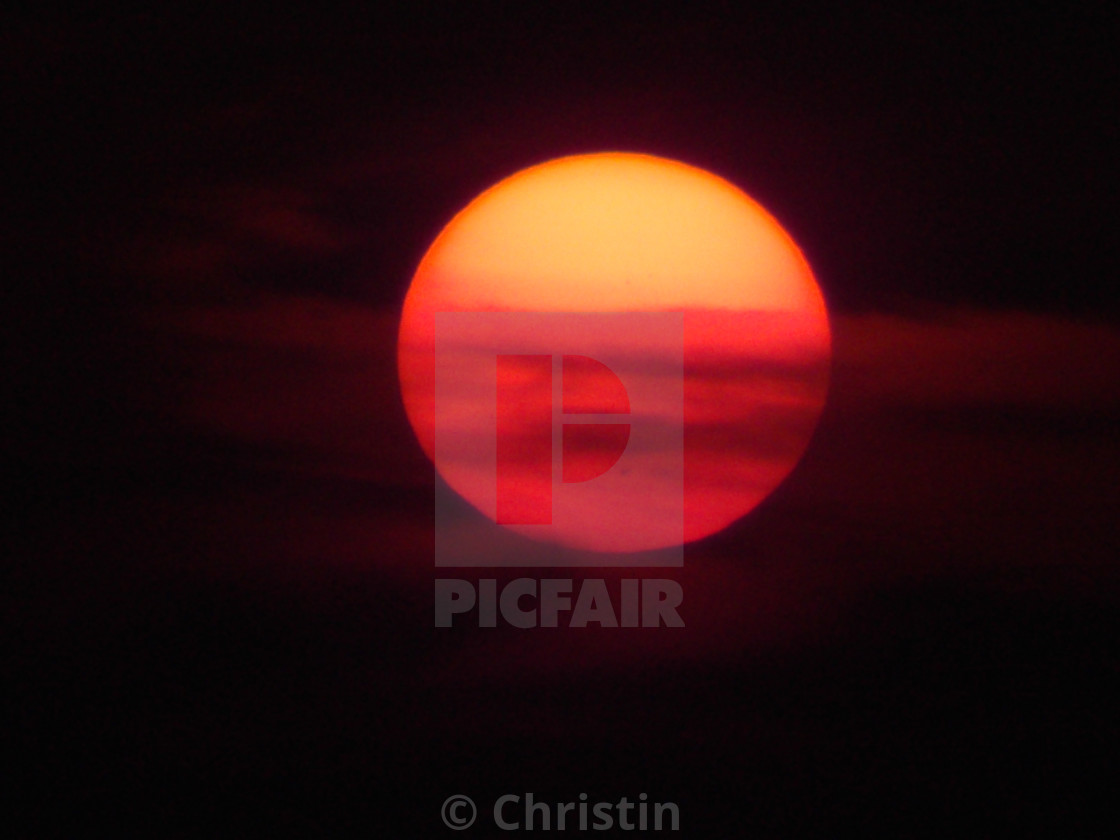 """Blood Red Sun"" stock image"