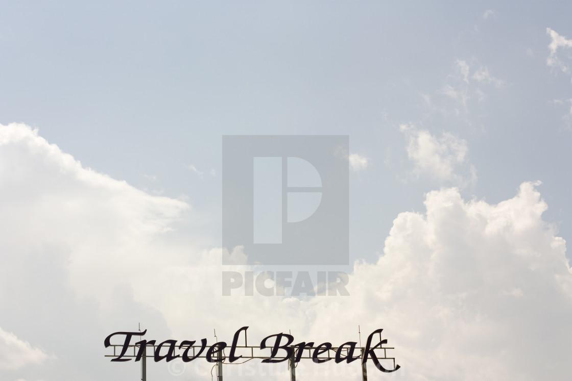 """Travel Break"" stock image"