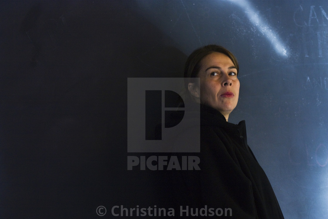 """Woman in black"" stock image"