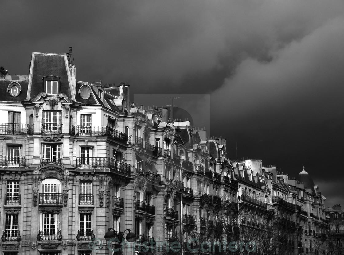 """Paris Storm"" stock image"