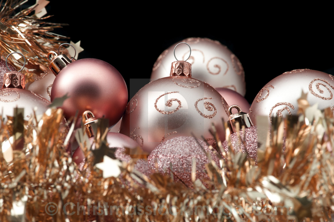Copper Christmas Ornaments.Copper Coloured Christmas Ornaments License Download Or