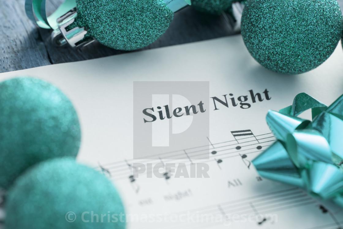 Christmas Music Background.Decorative Christmas Carols Music Background License