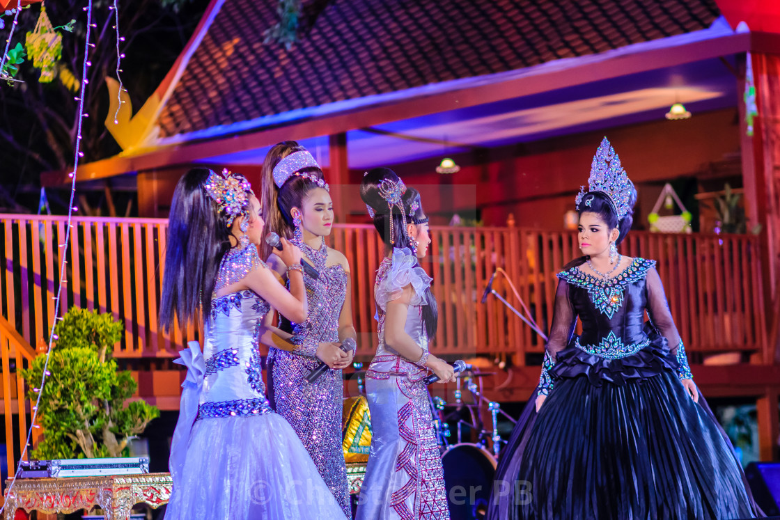 Bangkok, Thailand - January 28, 2017: Beautiful actresses in
