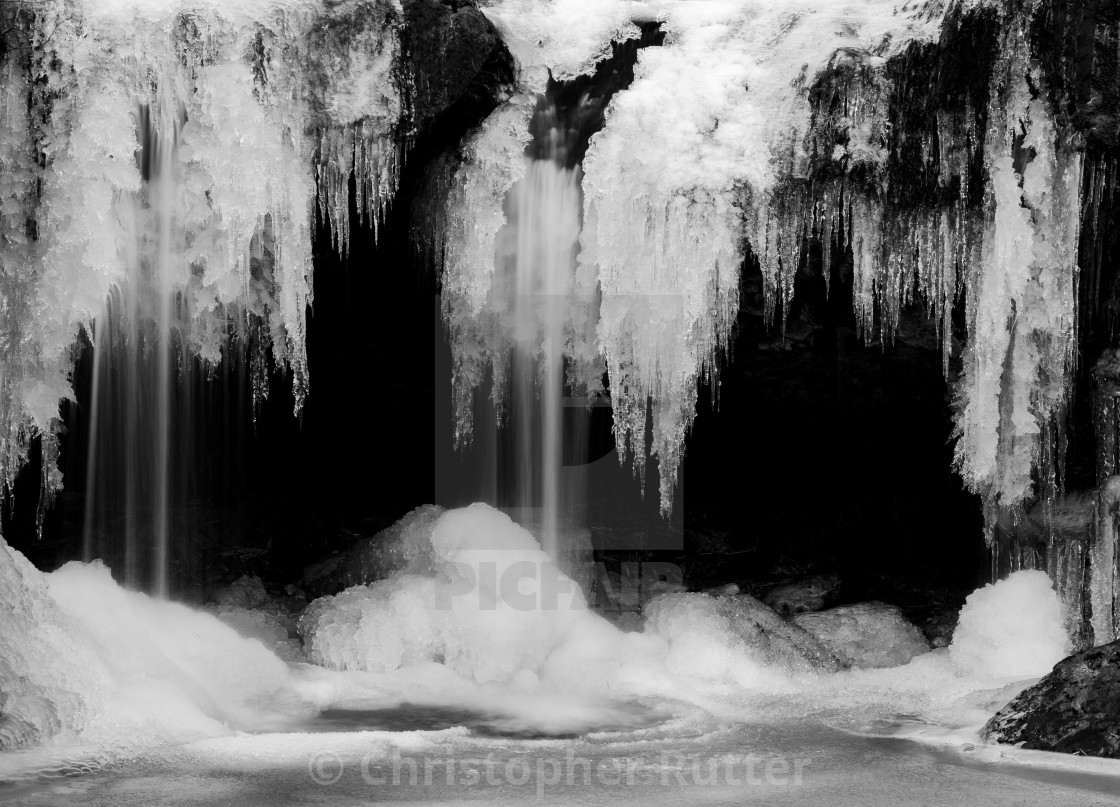 """The jaws of winter"" stock image"