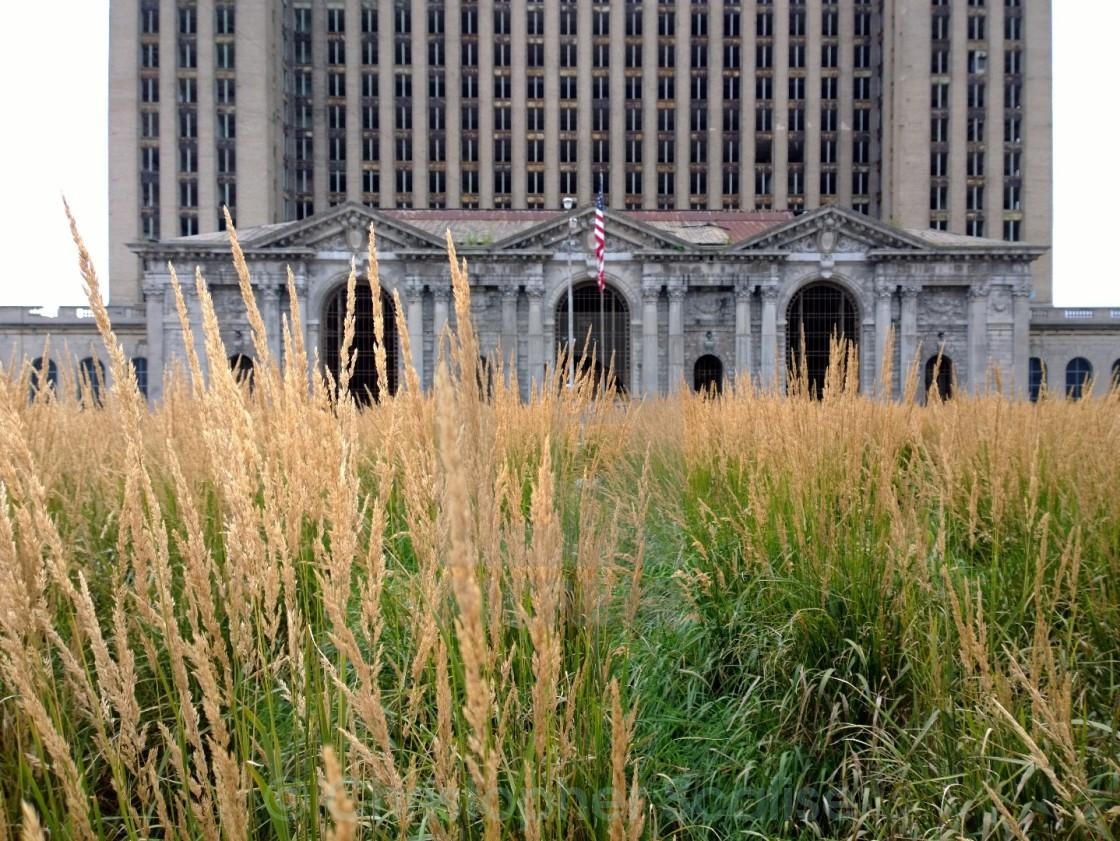"""Detroit Train Station"" stock image"