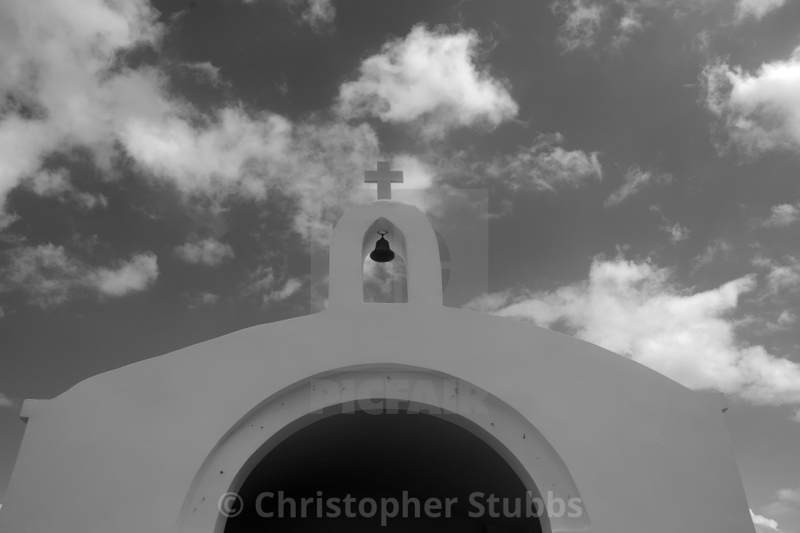 """The bell on the Agios Nikolaos Church"" stock image"