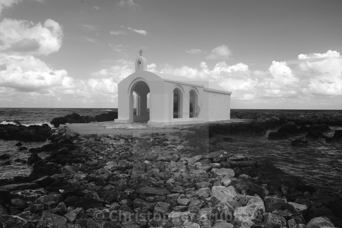 """The chapel of St. Nicholas in Georgioupolis"" stock image"