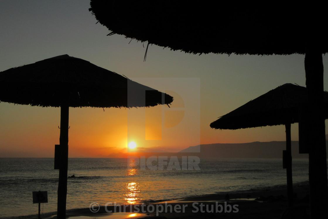 """Sunrise in The Med"" stock image"
