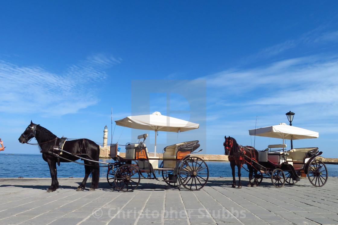 """Horse Rides Around Chania"" stock image"