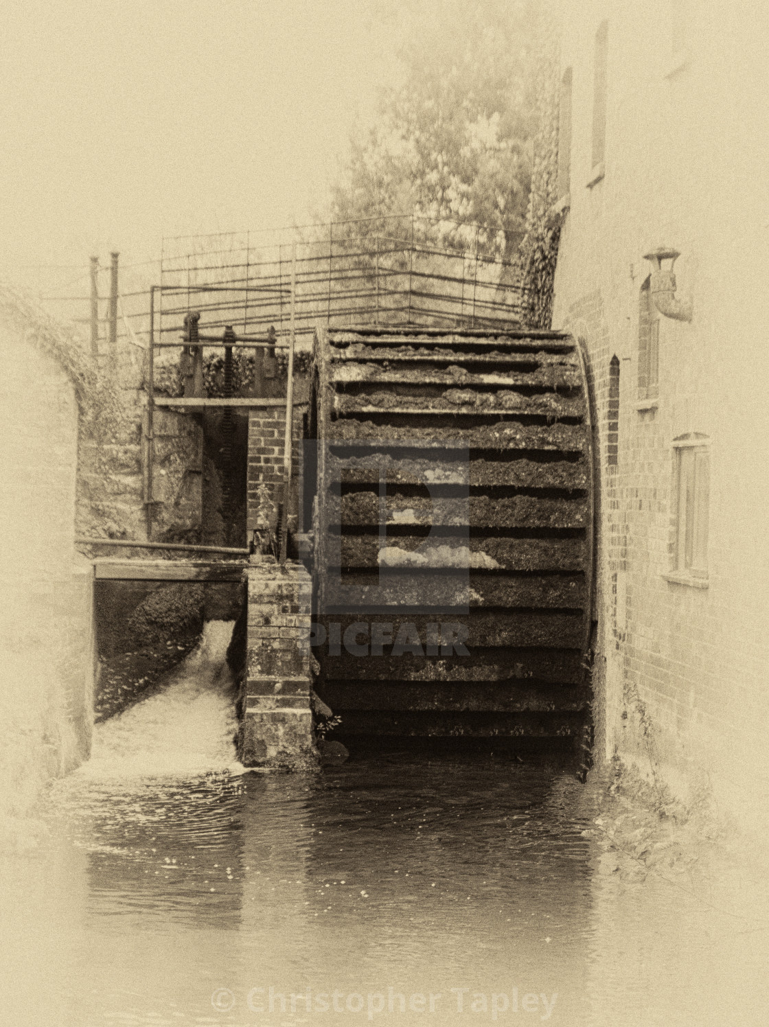 """The old mill wheel."" stock image"