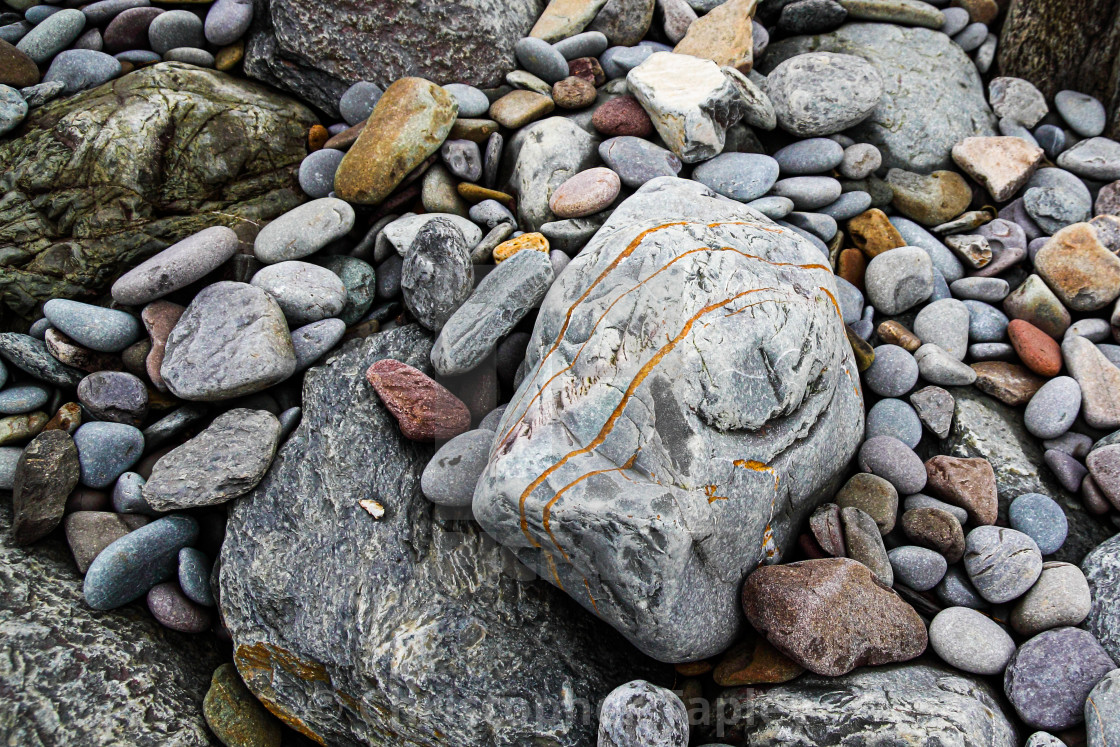 """Rock and pebbles."" stock image"