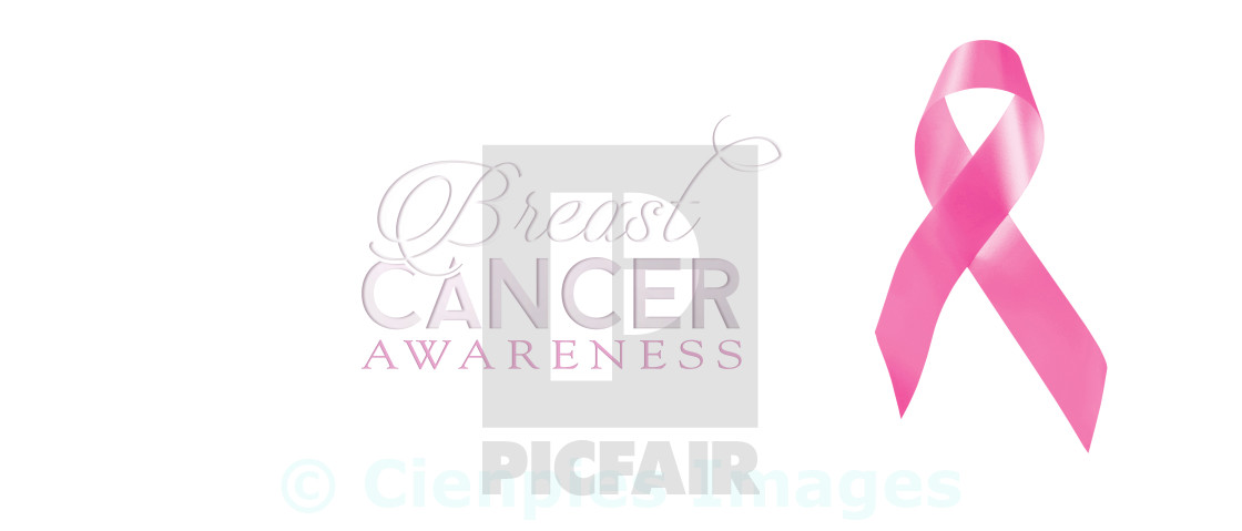 """""""Breast cancer awareness ribbon isolated background"""" stock image"""