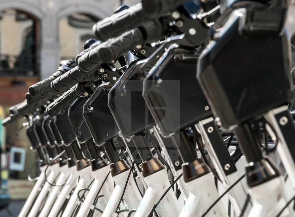 """""""Row of bikes"""" stock image"""