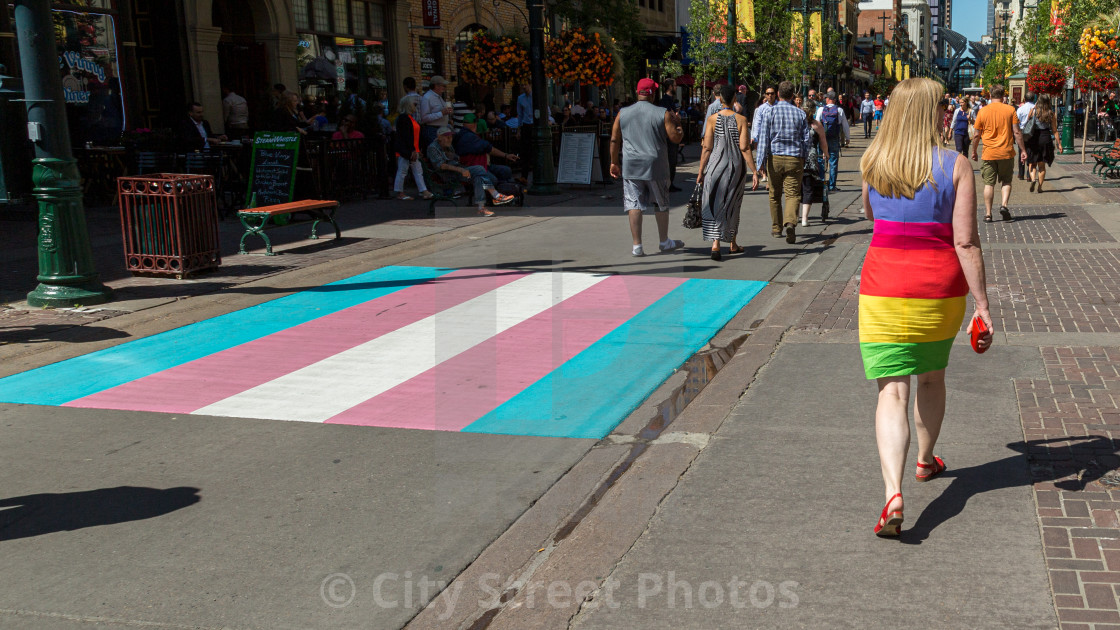 """Pride crosswalk"" stock image"