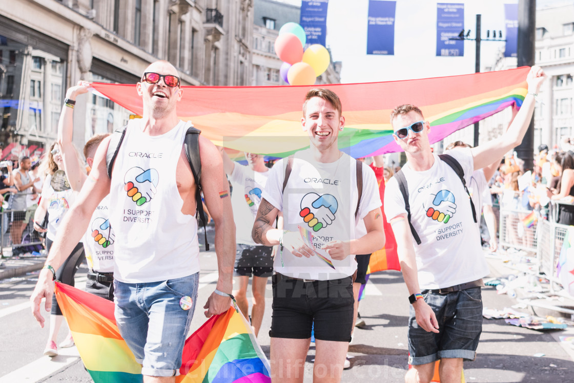 """Friends at Pride"" stock image"