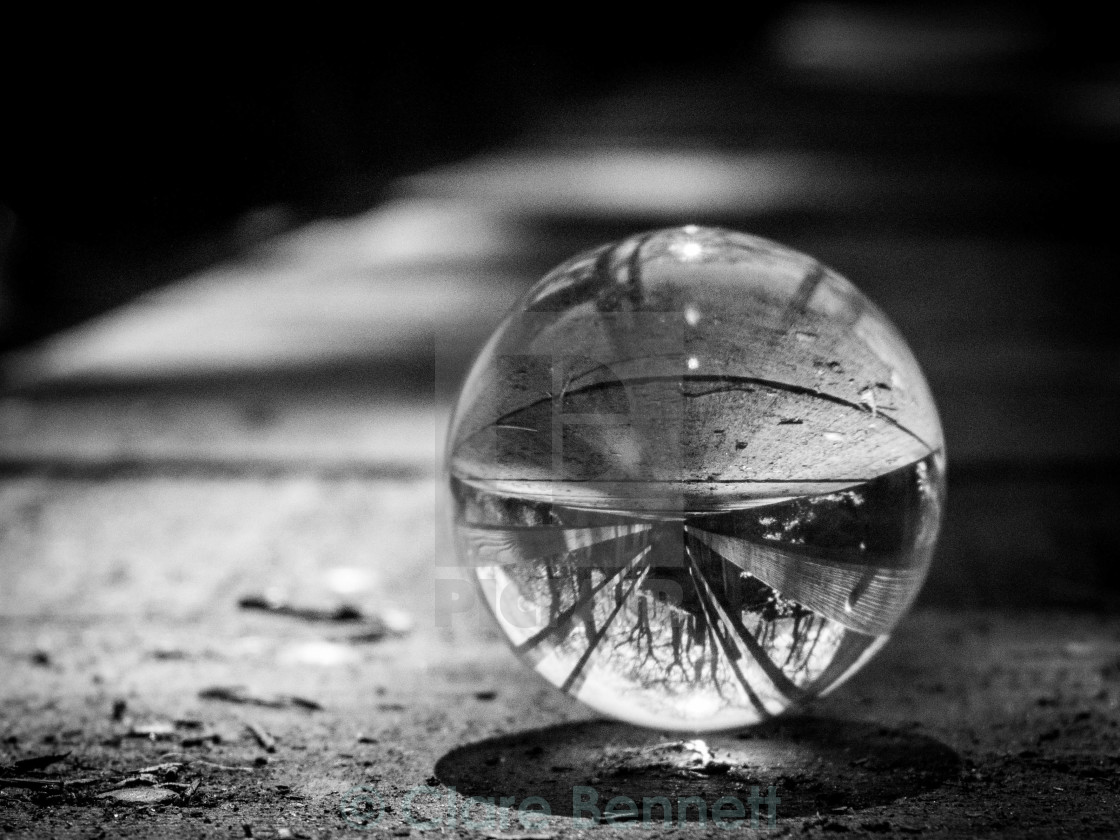 """Reflections of a Crystal Ball"" stock image"