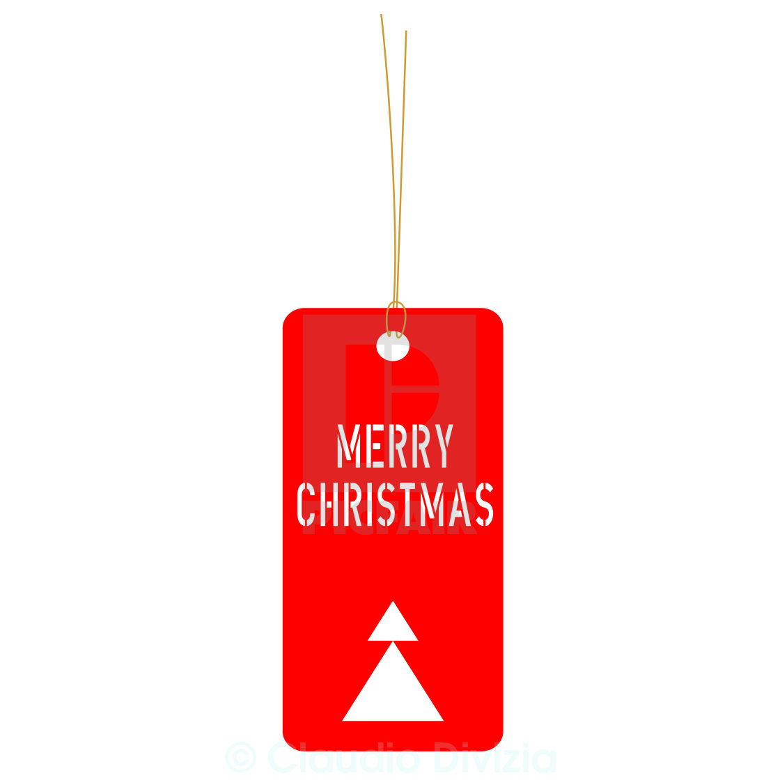 """Merry Christmas tag"" stock image"
