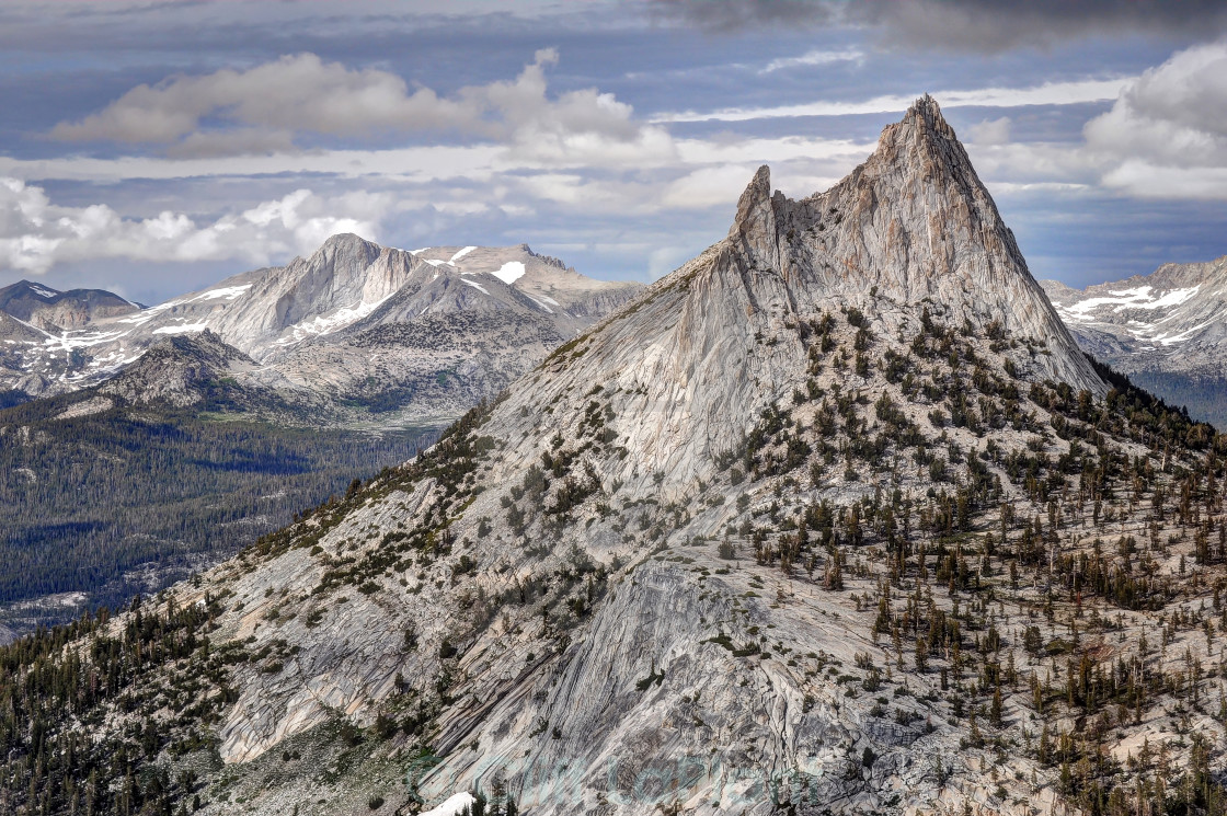"""Cathedral Peak and Mount Conness"" stock image"