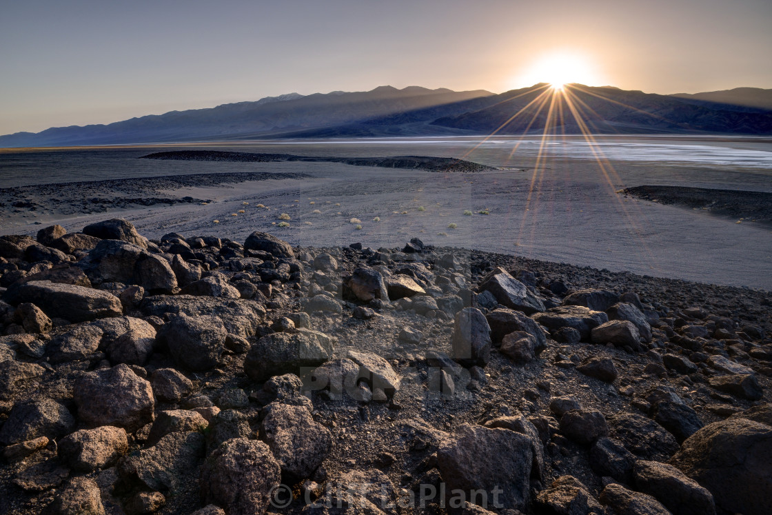 """Sunset in Badwater"" stock image"