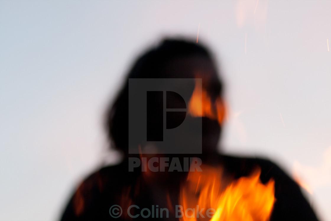 """Fire silouette"" stock image"