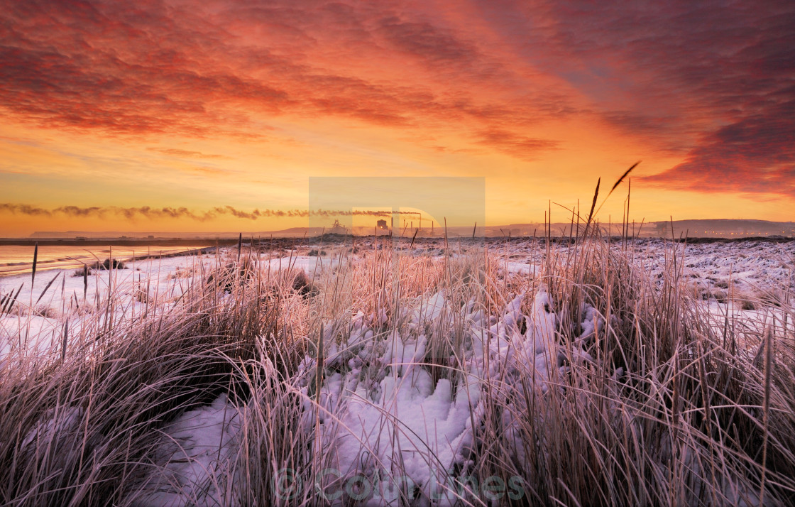 """Snow On The Dunes"" stock image"