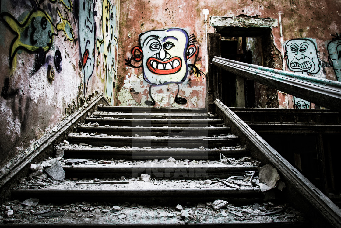 """Derelict Building Interior 5"" stock image"