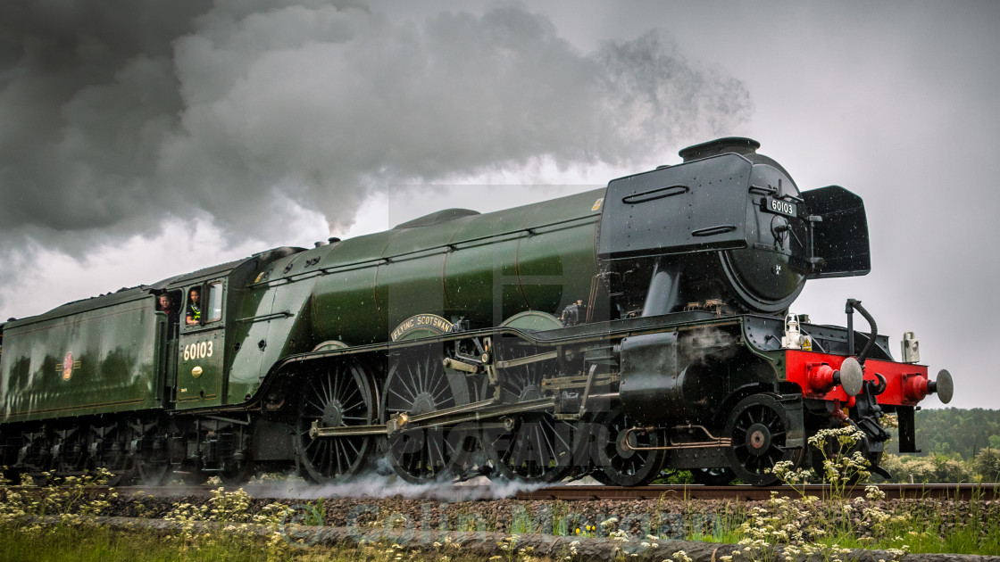 """Flying Scotsman Steam Train 60103"" stock image"