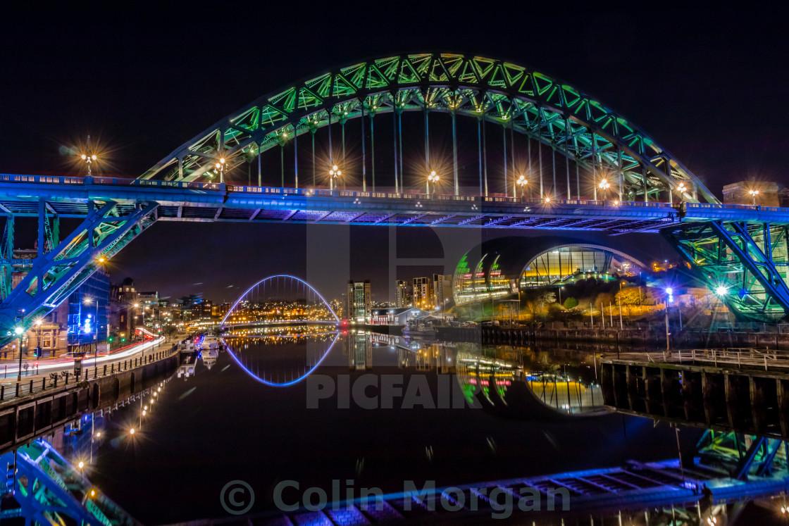 """""""Tyne Reflections"""" stock image"""