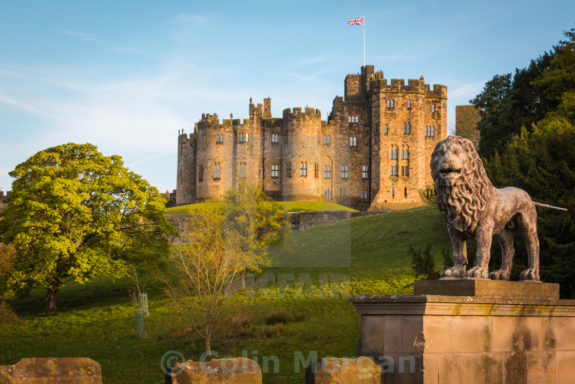 """Alnwick Castle Evening"" stock image"