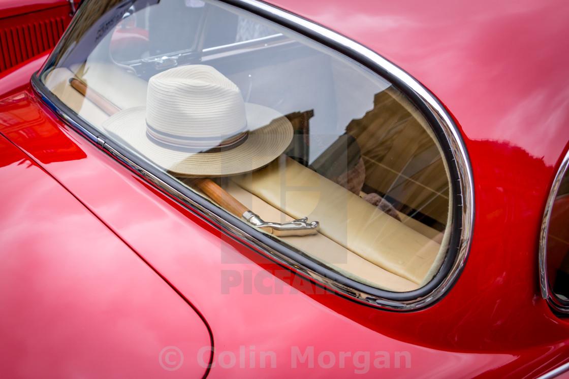 """The Jaguar and the Panama"" stock image"