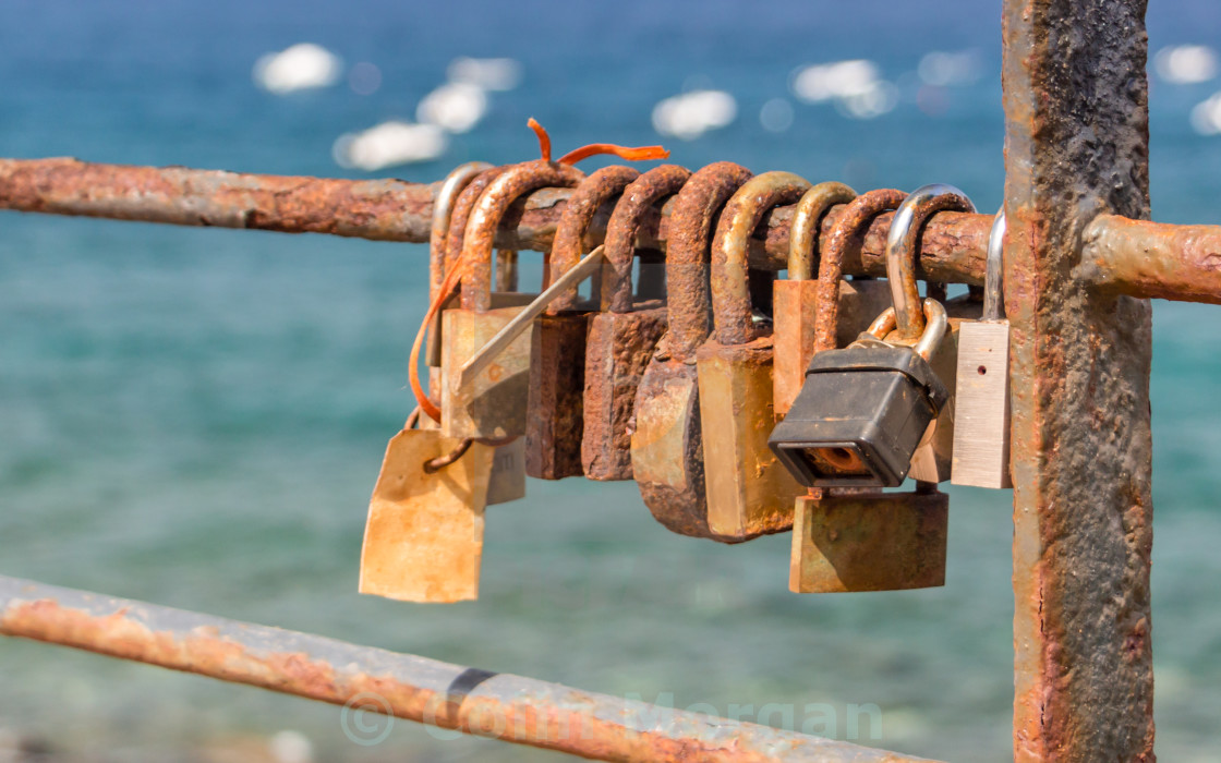 """Mediterranean Love Locks"" stock image"