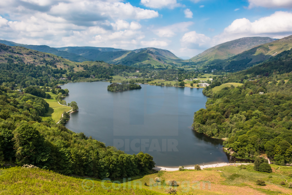 """Grasmere from Loughrigg Fell"" stock image"