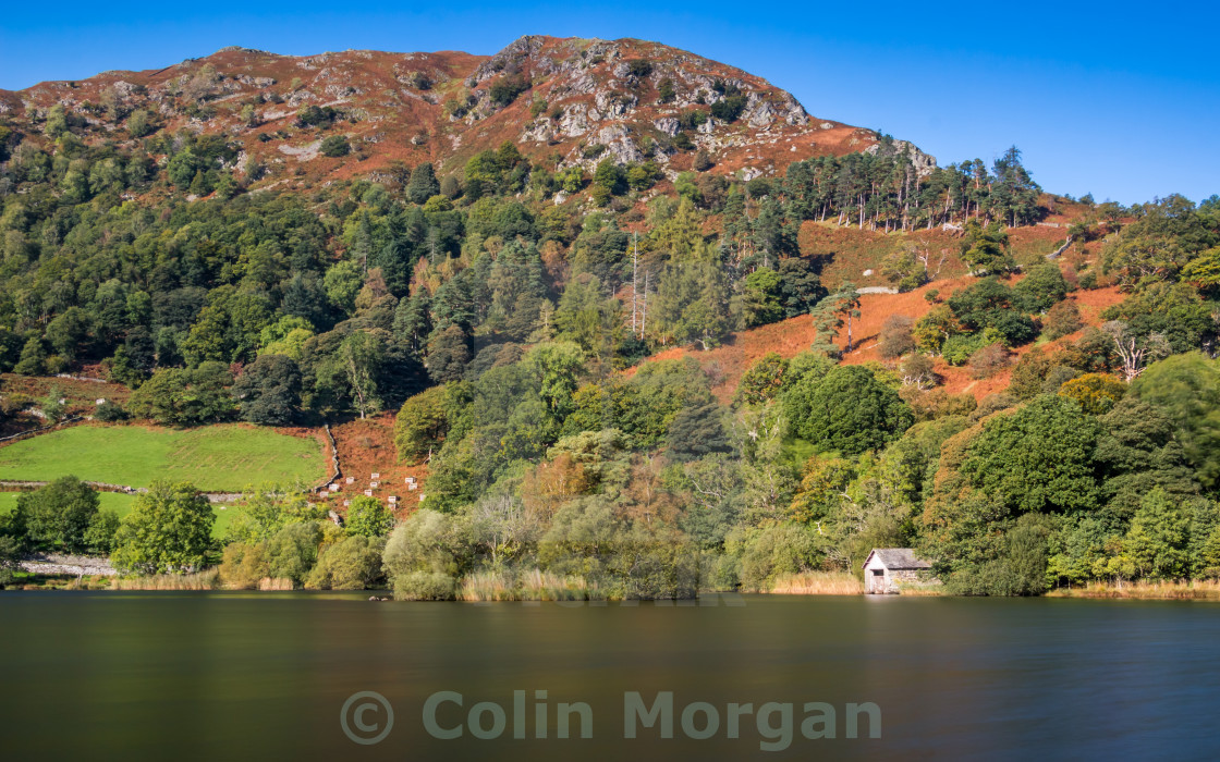"""Rydal Water Boathouse"" stock image"