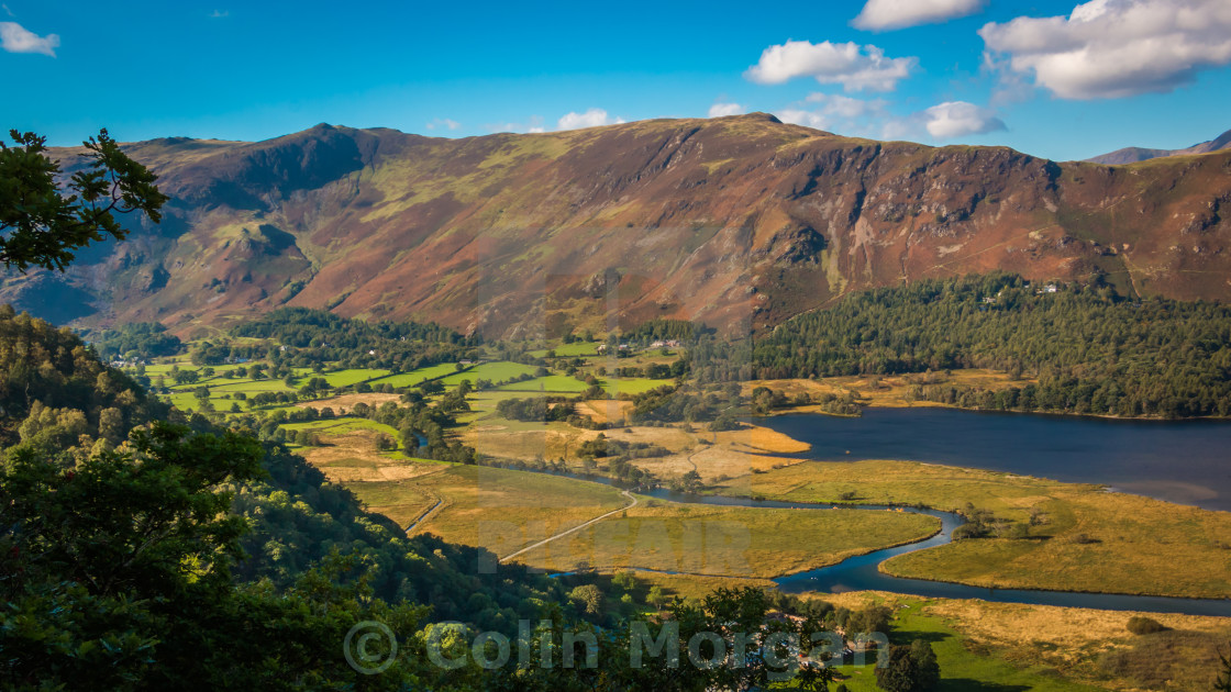 """""""Catbells from Suprise View"""" stock image"""