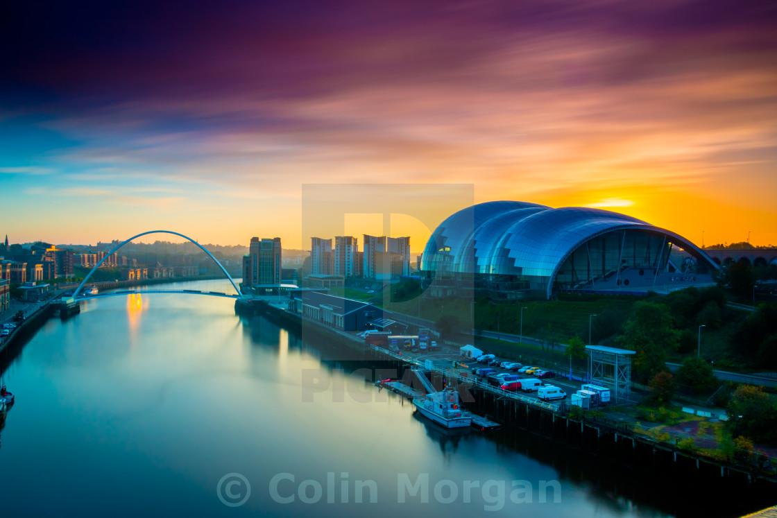 """""""Sage Sunrise, Gateshead"""" stock image"""