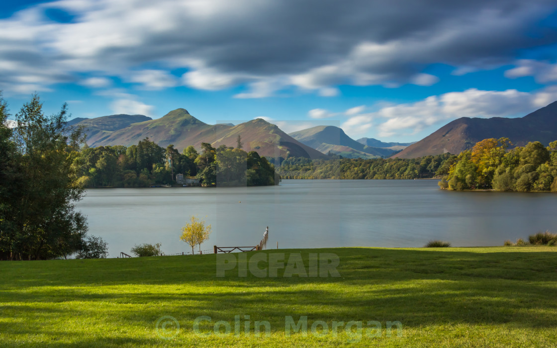 """Derwent Water and Catbells View"" stock image"