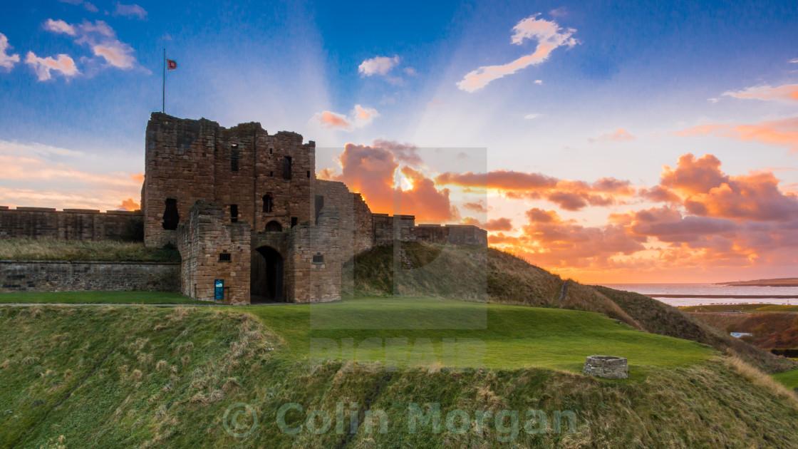 """""""Tynemouth Priory Sunrise"""" stock image"""