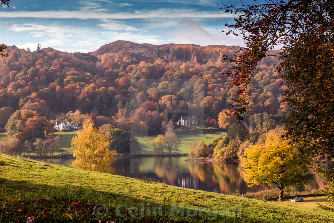 """Grasmere Autumn Colours"" stock image"