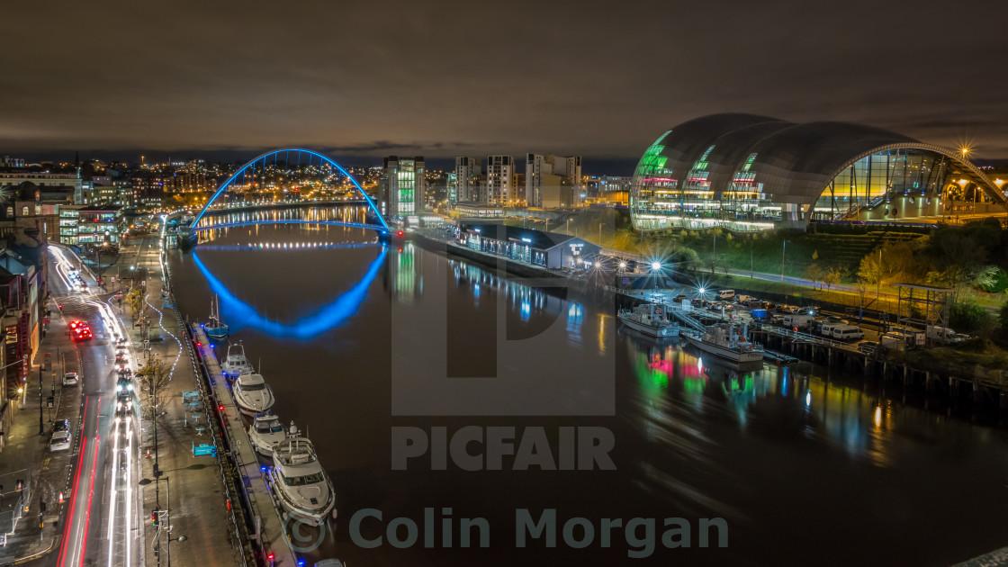 """""""River Tyne City Marina"""" stock image"""