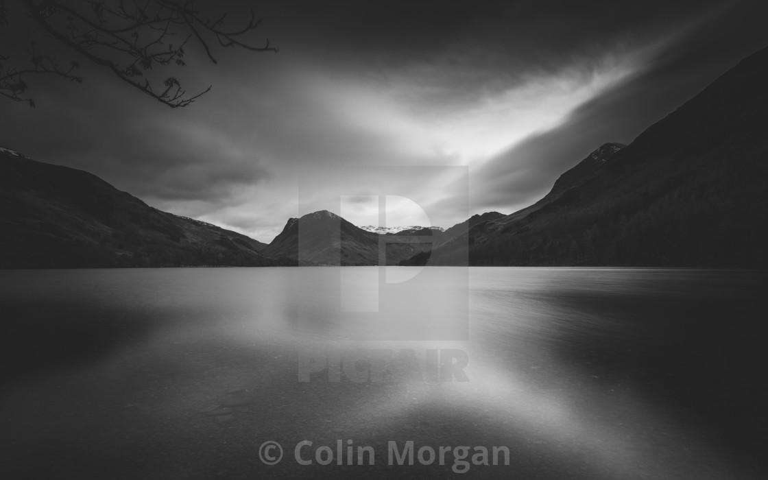 """""""Buttermere with Fleetwith Pike"""" stock image"""