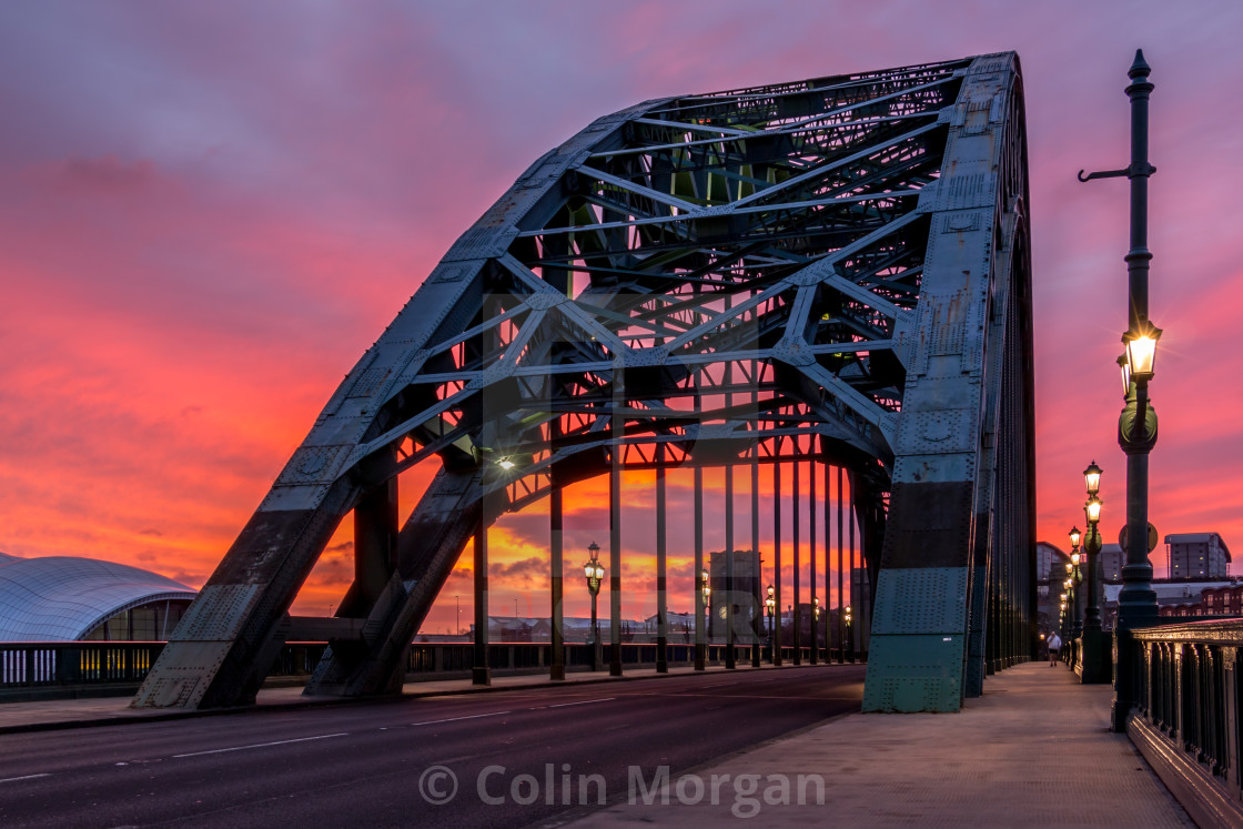 """Tyne Bridge Sunrise"" stock image"