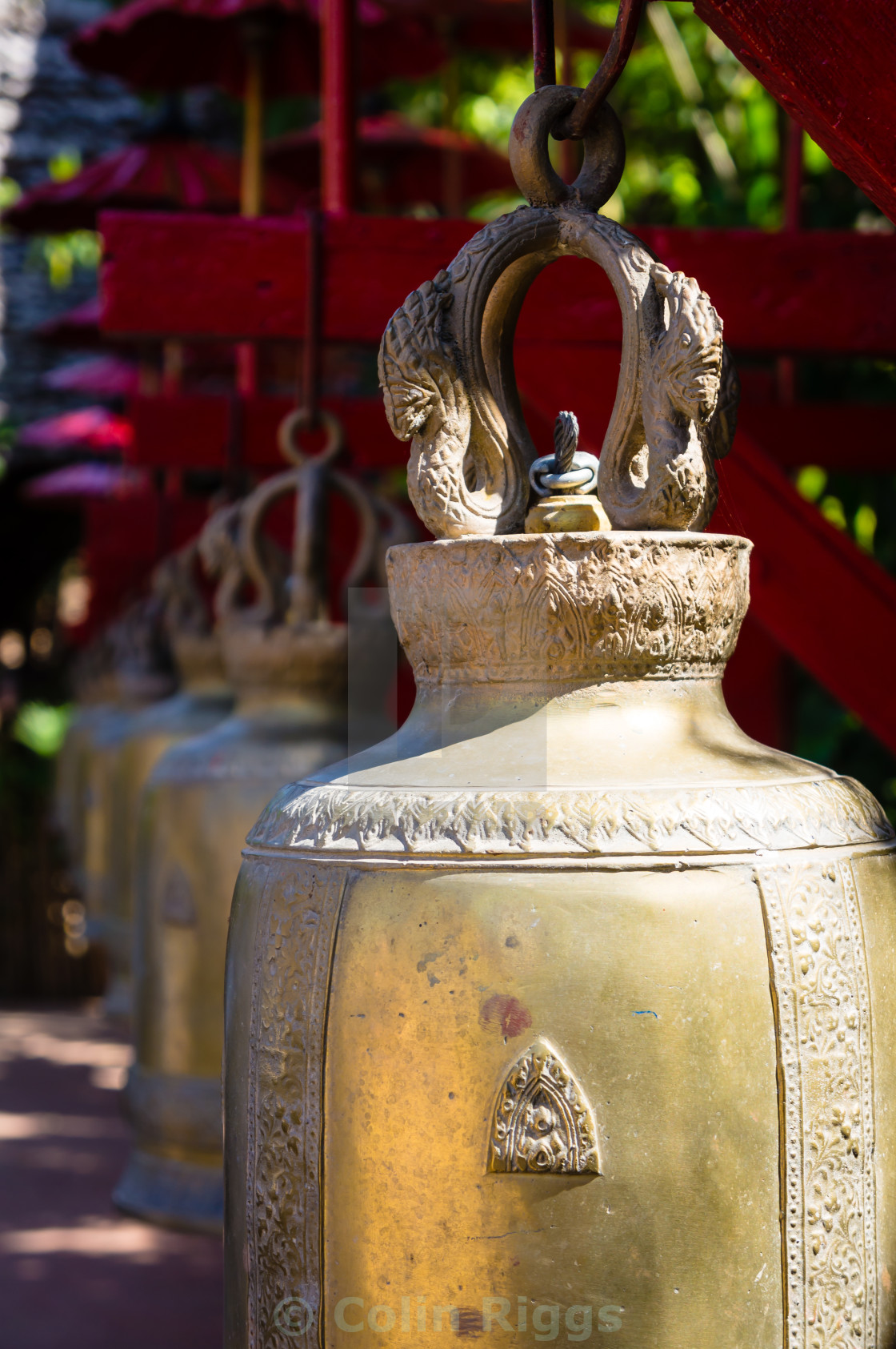 """Buddhist prayer bells"" stock image"