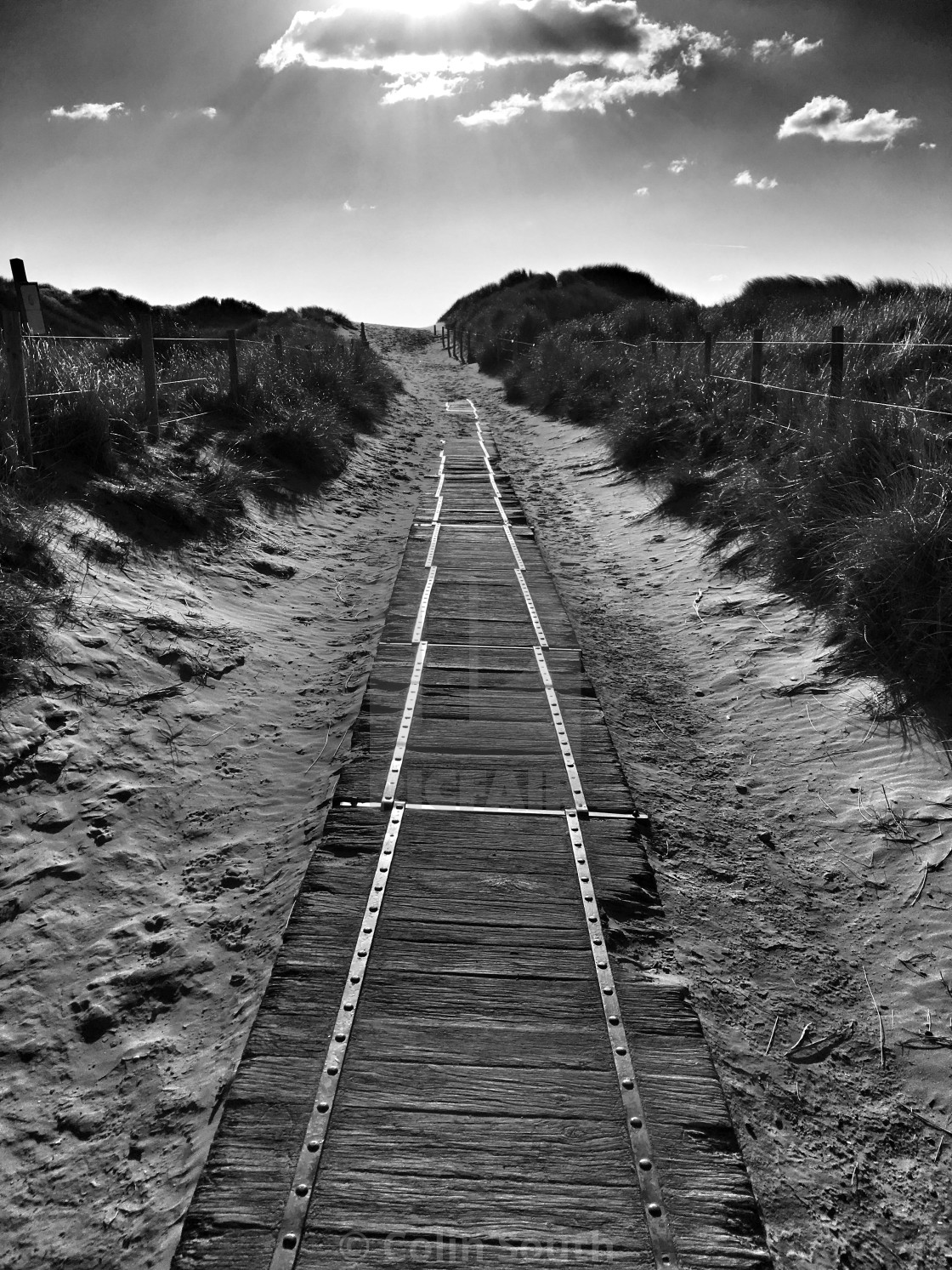 """Path to Harlech Beach"" stock image"