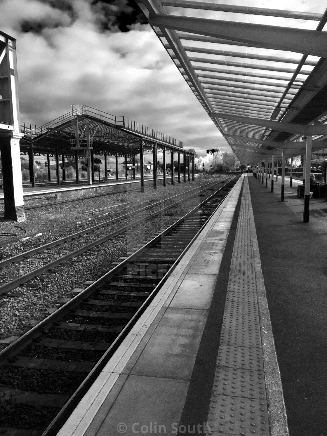 """""""Chester Railway Station"""" stock image"""