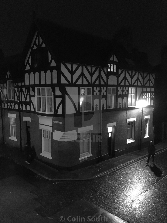 """Water Tower Street Corner, Chester."" stock image"